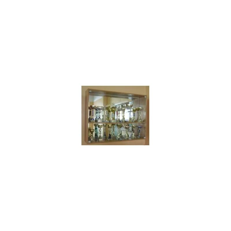 Gablota wisząca na puchary - lustro w środku