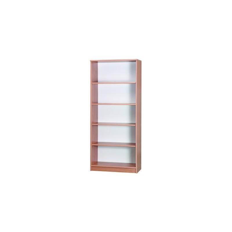 Regał biblioteczny 1-stronny – 4 półki (5 wnęk)