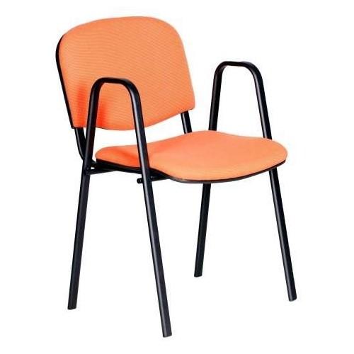 Krzesło ISO MPD, tapicerowane, stelaż czarny