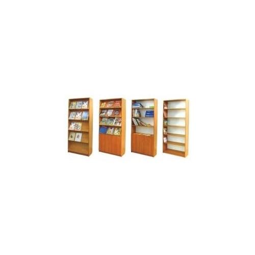 Regał biblioteczny 2-stronny – 4 półki (5 wnęk)