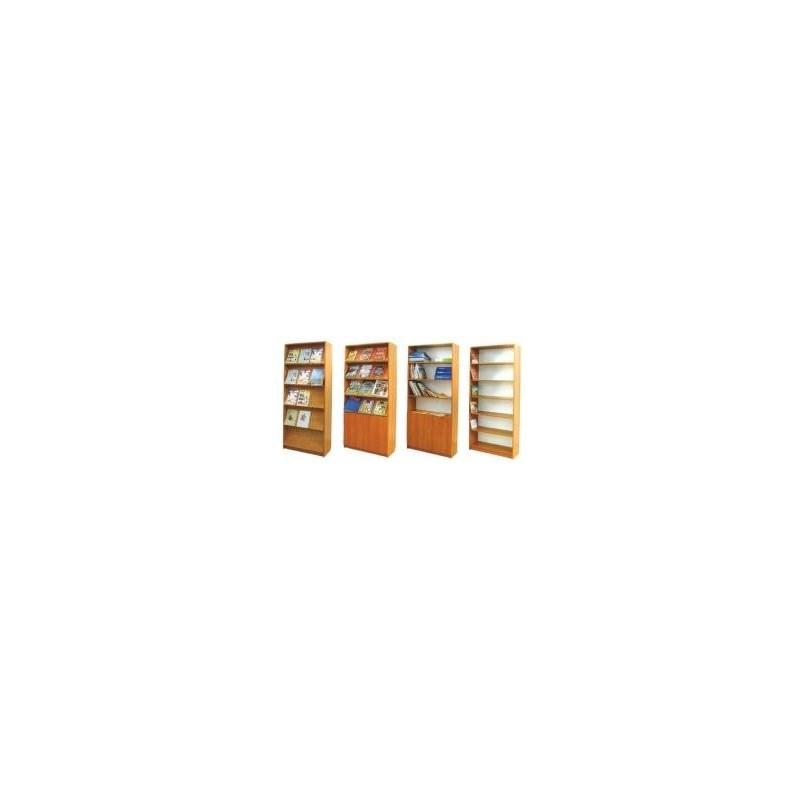 Regał biblioteczny z drzwiami